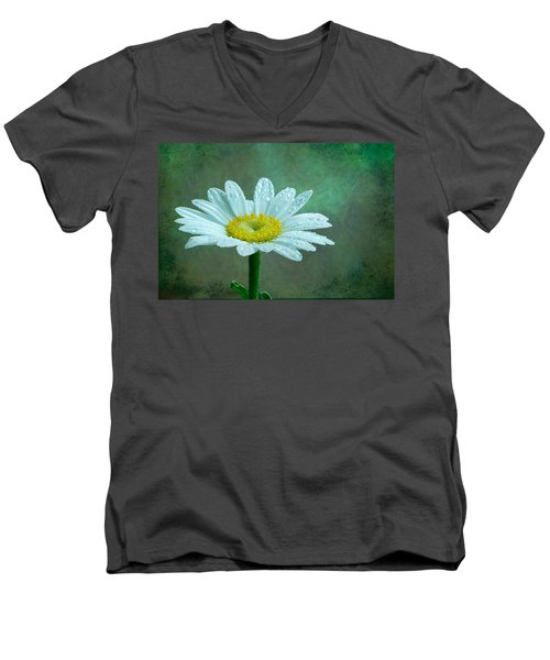 Daisy In The Rain Men's V-Neck T-Shirt