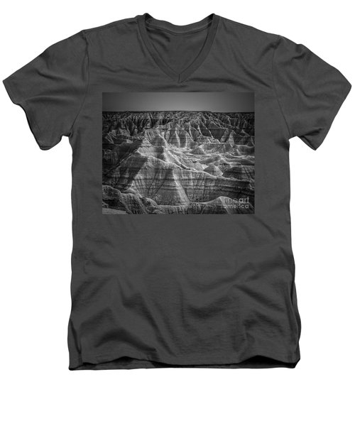 Dakota Badlands Men's V-Neck T-Shirt by Perry Webster