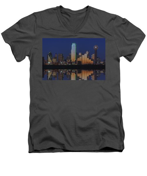 Dallas Aglow Men's V-Neck T-Shirt