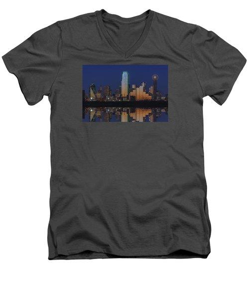 Dallas Aglow Men's V-Neck T-Shirt
