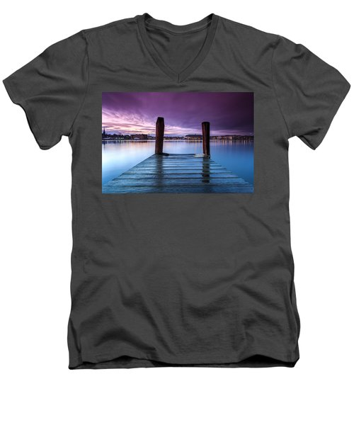 Damp Sunset Men's V-Neck T-Shirt