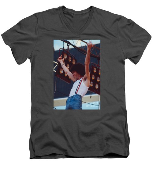 Dan Mccafferty Of Nazareth At Day On The Green 4th Of July 1979 Men's V-Neck T-Shirt