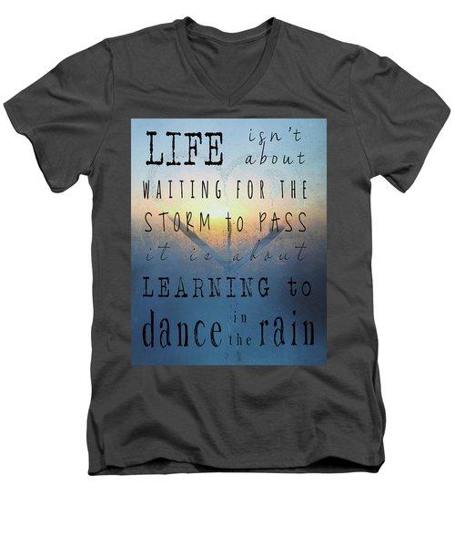 Dance In The Rain  Men's V-Neck T-Shirt