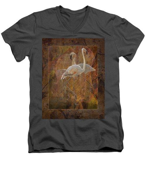 Dance Of The Flamingos Men's V-Neck T-Shirt