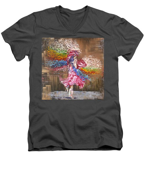 Dance Through The Color Of Life Men's V-Neck T-Shirt