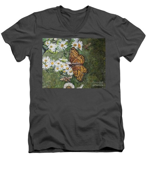 Dance With The Daisies Men's V-Neck T-Shirt by Kimberlee Baxter