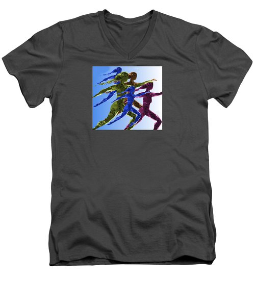 Dancers Men's V-Neck T-Shirt by Mary Armstrong