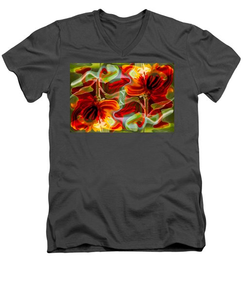 Dancing Flowers Men's V-Neck T-Shirt