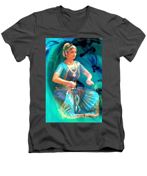 Dancing Girl With Gold Necklace Men's V-Neck T-Shirt