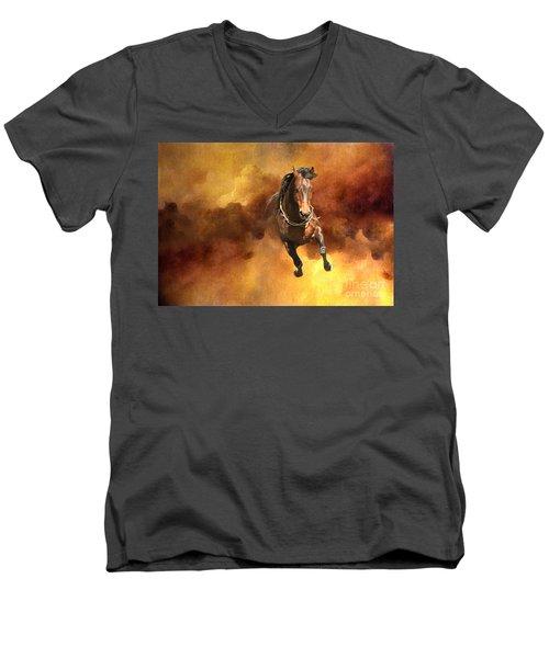 Dancing Free I Men's V-Neck T-Shirt by Michelle Twohig