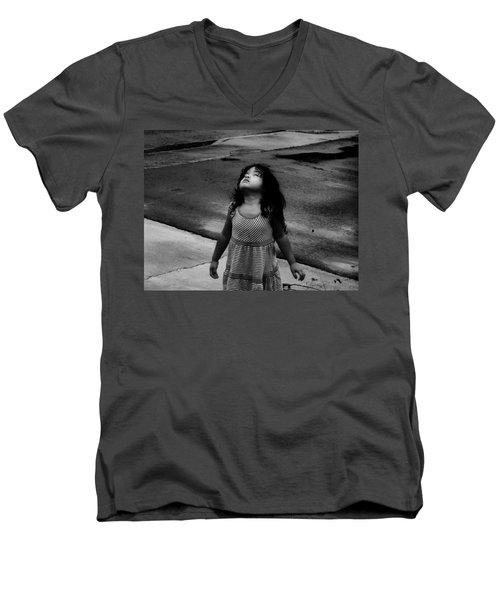 Dancing In The Rain  Men's V-Neck T-Shirt