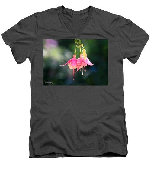 Dancing In The Wind Men's V-Neck T-Shirt by Mariarosa Rockefeller
