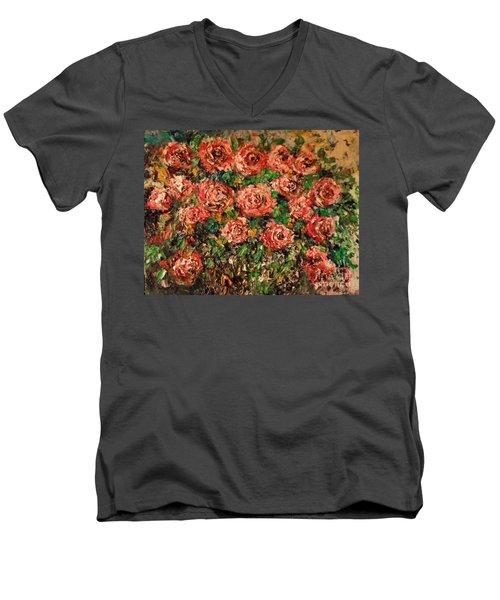 Dancing Red Roses Men's V-Neck T-Shirt
