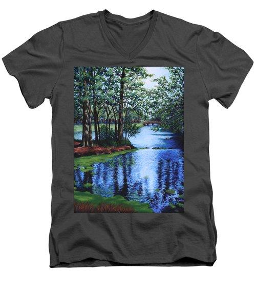 Dancing Waters Men's V-Neck T-Shirt
