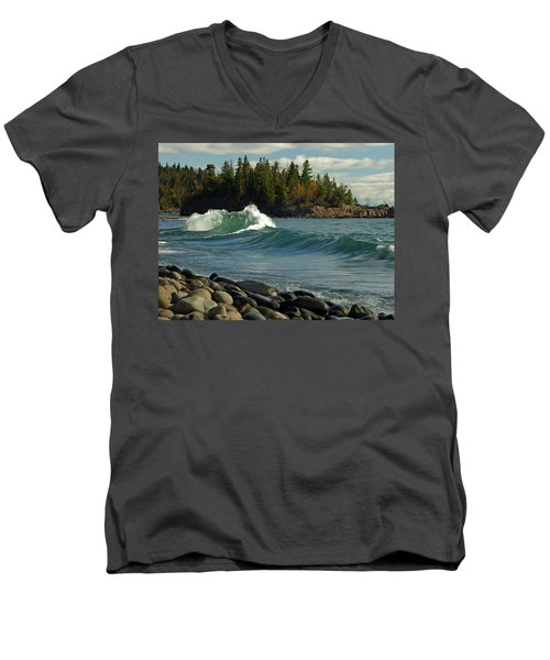 Dancing Waves Men's V-Neck T-Shirt