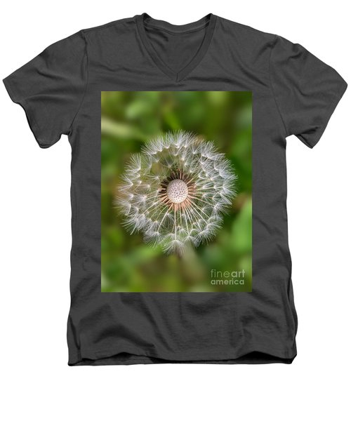 Men's V-Neck T-Shirt featuring the photograph Dandelion by Carsten Reisinger
