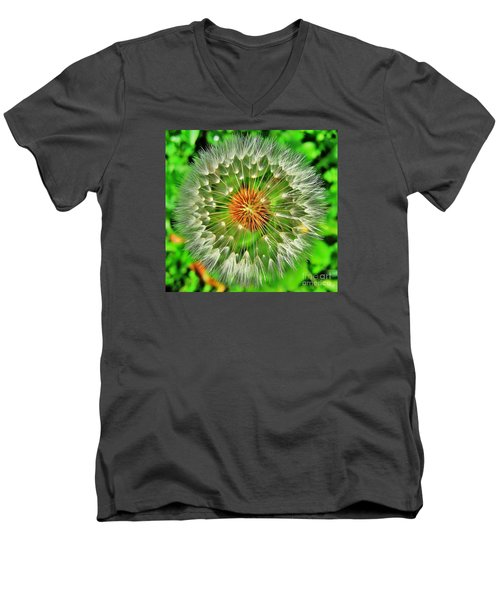 Dandelion Circle Men's V-Neck T-Shirt