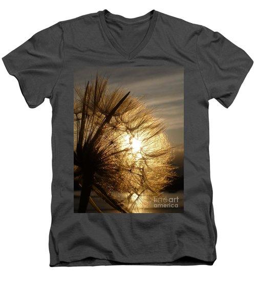 Dandelion Sunset Men's V-Neck T-Shirt