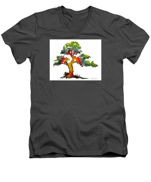 Da140 Rainbow Tree Daniel Adams Men's V-Neck T-Shirt
