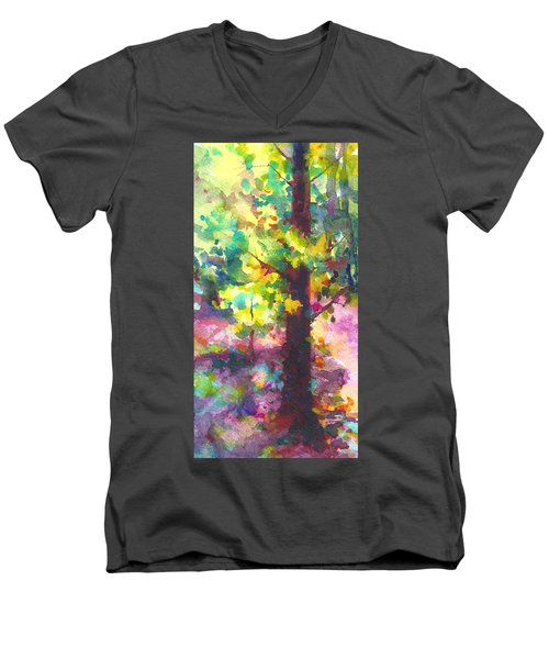 Dappled - Light Through Tree Canopy Men's V-Neck T-Shirt