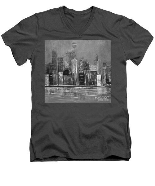 Dark Clouds Over The City Men's V-Neck T-Shirt