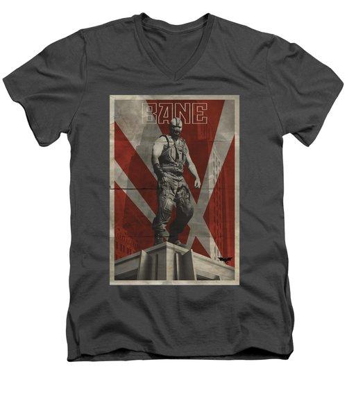 Dark Knight Rises - Bane Rooftop Poster Men's V-Neck T-Shirt