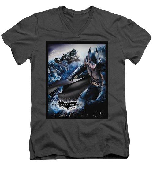 Dark Knight Rises - Batwing Rises Men's V-Neck T-Shirt