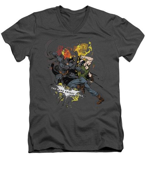 Dark Knight Rises - Fight For Gotham Men's V-Neck T-Shirt