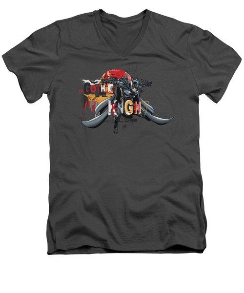 Dark Knight Rises - Gothic Knight Men's V-Neck T-Shirt