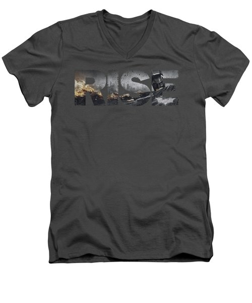 Dark Knight Rises - Title Men's V-Neck T-Shirt