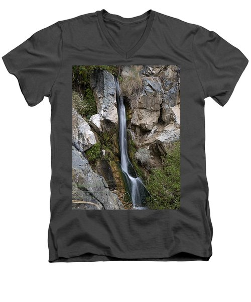 Men's V-Neck T-Shirt featuring the photograph Darwin Falls by Joe Schofield
