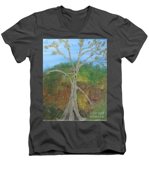 Dash The Running Tree Men's V-Neck T-Shirt
