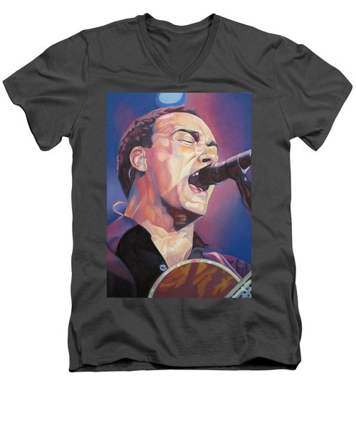 Dave Matthews Colorful Full Band Series Men's V-Neck T-Shirt by Joshua Morton