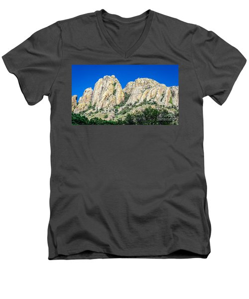 Davis Mountains Of S W Texas Men's V-Neck T-Shirt