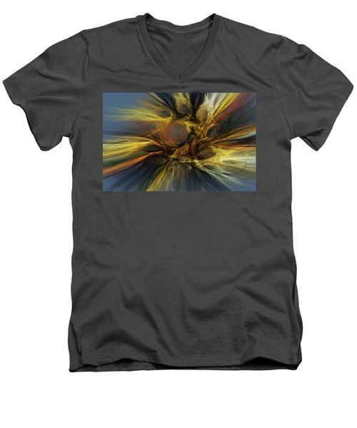Men's V-Neck T-Shirt featuring the digital art Dawn Of Enlightment by David Lane