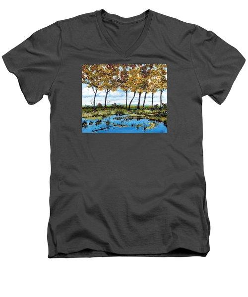 Dawn's Blue Waters Edge  Men's V-Neck T-Shirt