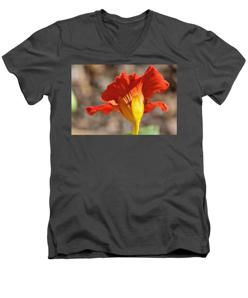 Men's V-Neck T-Shirt featuring the photograph Day Time by Larry Bishop