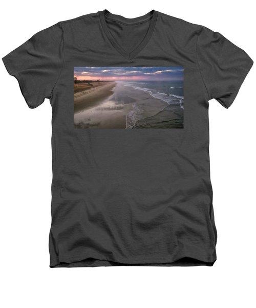 Daybreak Men's V-Neck T-Shirt by Tammy Espino