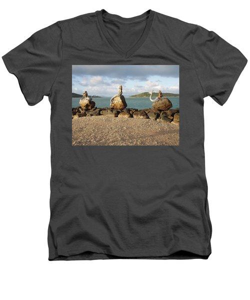 Men's V-Neck T-Shirt featuring the photograph Daydream Mermaids by Absinthe Art By Michelle LeAnn Scott