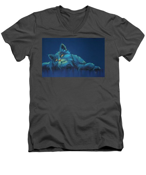 Men's V-Neck T-Shirt featuring the drawing Daydreams by Cynthia House