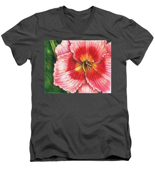 Daylily Delight Men's V-Neck T-Shirt by Shana Rowe Jackson
