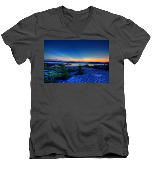 Days End Men's V-Neck T-Shirt by Dave Files
