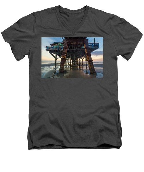 Daytona Beach Shores Pier Men's V-Neck T-Shirt