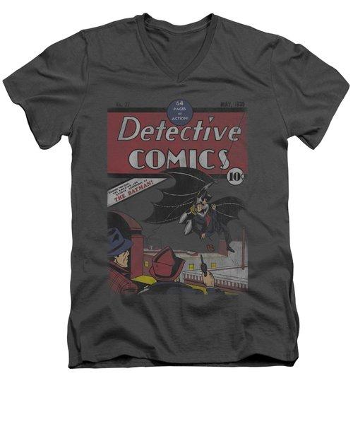 Dc - Detective #27 Distressed Men's V-Neck T-Shirt
