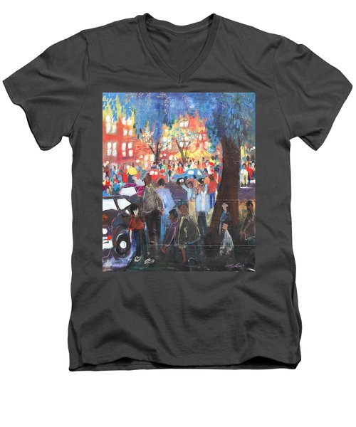 D.c. Market Men's V-Neck T-Shirt by Leela Payne