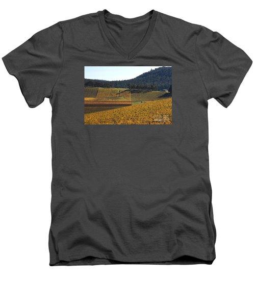 golden vines-Victoria-Australia Men's V-Neck T-Shirt by Joy Watson