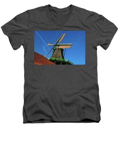 De Kat Blue Skies Men's V-Neck T-Shirt by Jonah  Anderson