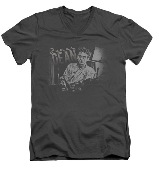 Dean - Worn Out Men's V-Neck T-Shirt by Brand A