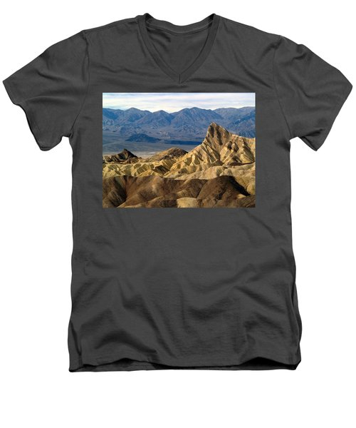 Death Valley Np Zabriskie Point 11 Men's V-Neck T-Shirt