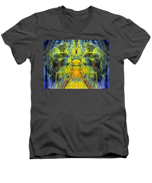 Decalcomaniac Intersection 1 Men's V-Neck T-Shirt by Otto Rapp